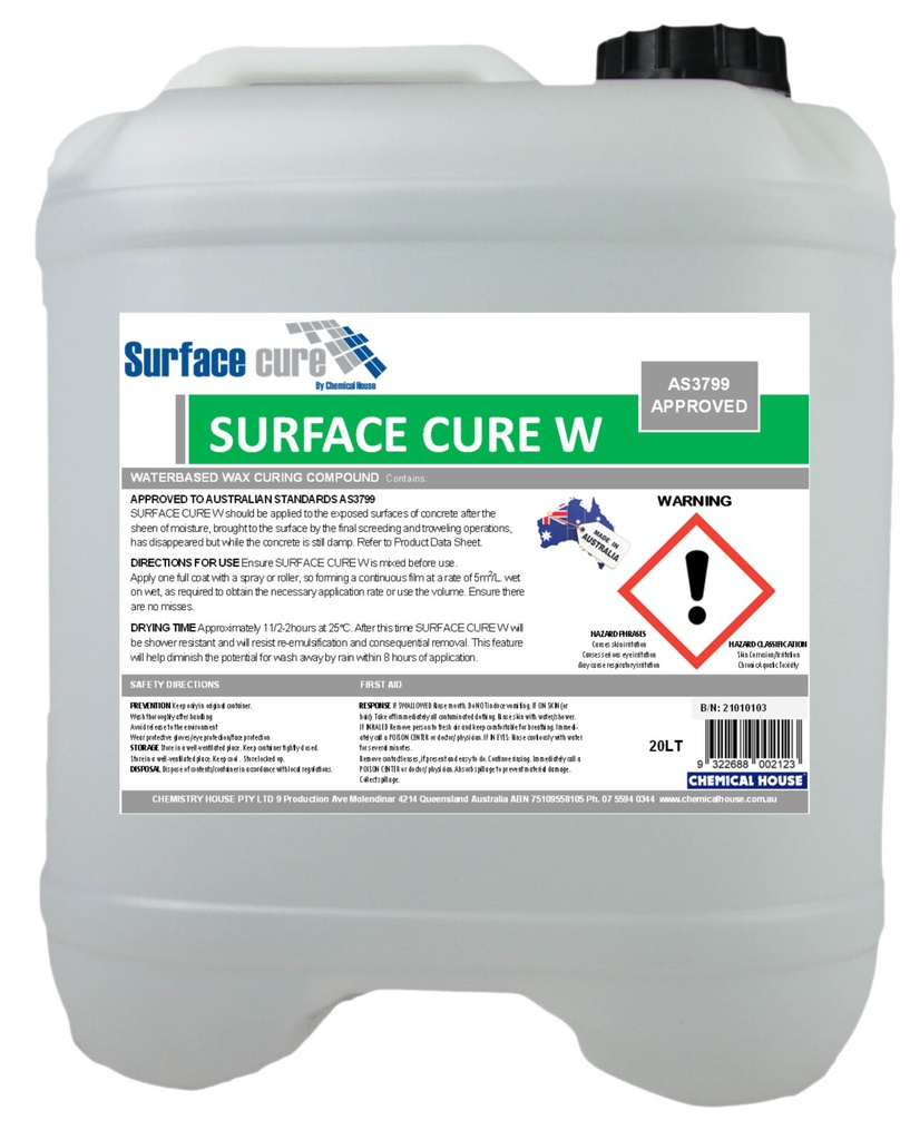 SURFACE CURE W (WAX) TYP1-D CLS A